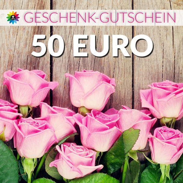Geschenk-Gutschein, Wert 50 Euro Rosen