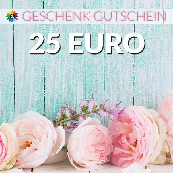 Geschenk-Gutschein, Wert 25 Euro Pfingstrosen