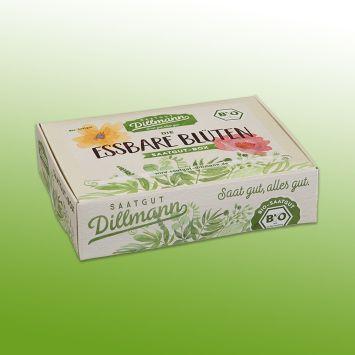 Essbare Blüten Saatgut-Box S Bio, Karton