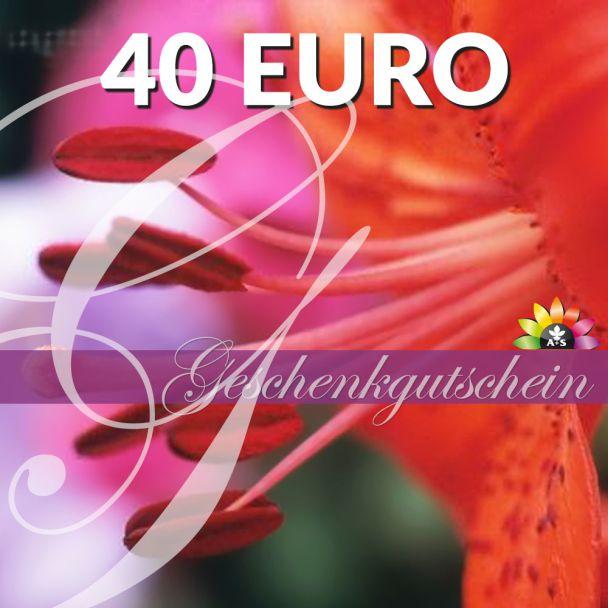 Geschenk-Gutschein, Wert 40 Euro 'RosaLilli'