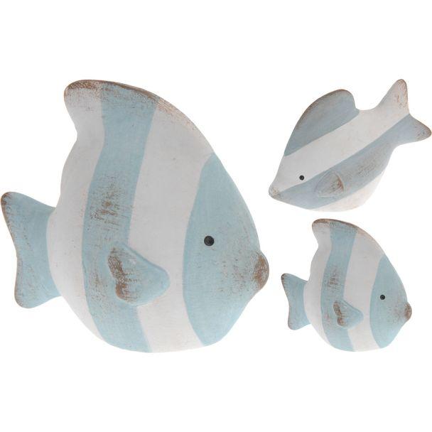 Deko Fisch, längsgestreift