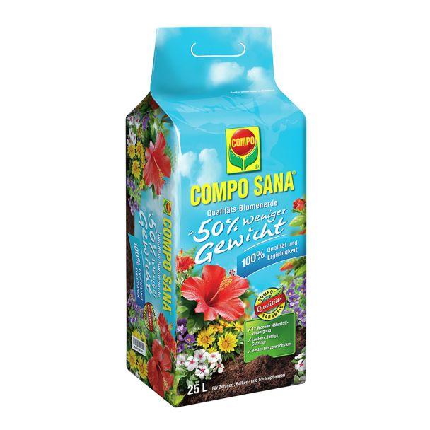 COMPO SANA® Qualitäts-Blumenerde ca. 50% weniger Gewicht - 25 Liter (1 l = € 0,34)