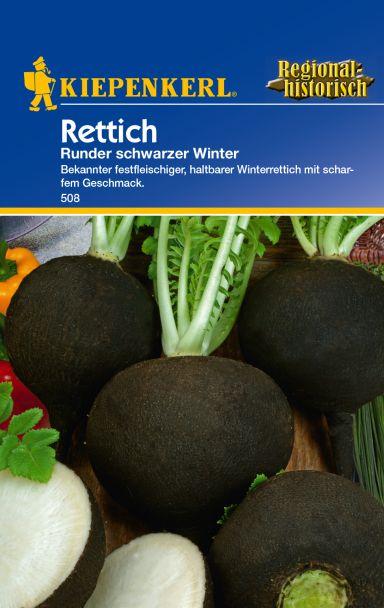 Rettich 'runder schwarzer Winter'