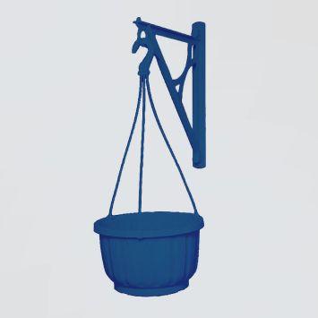 Wandhalter für Blumen-Ampeln, blau