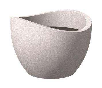 'wave globe®' Taupe-Granit 40 cm Pflanzgefäß
