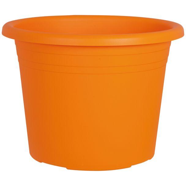 Blumentopf 'Cylindro', orange, Ø 30 cm