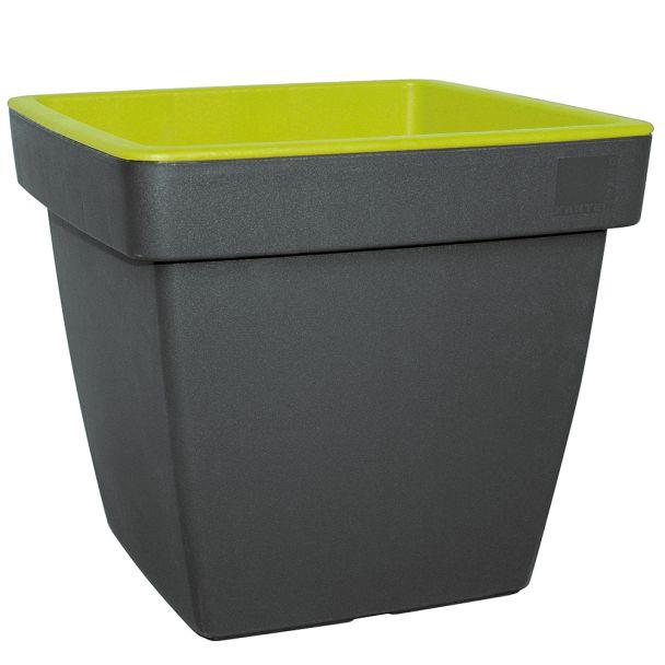 'E&K' Pflanztopf, anthrazit-mintgrün