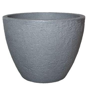Topf 'Stone' in Betonfarbe